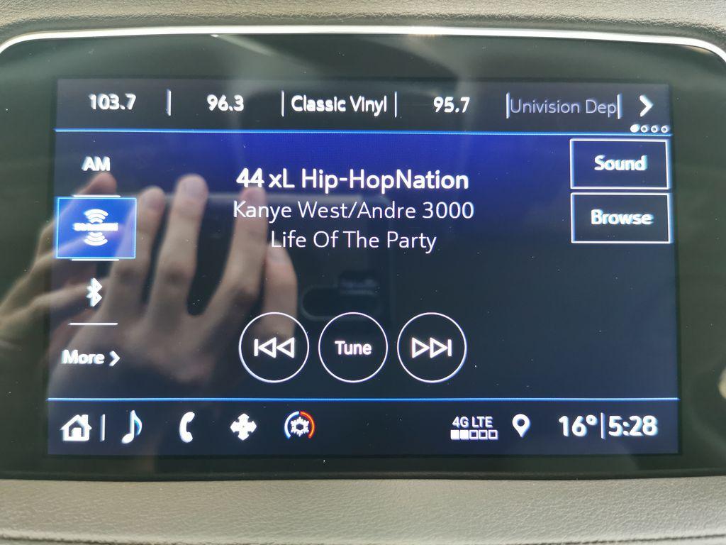 Black[Stellar Black Metallic] 2019 Cadillac XT4 Radio Controls Closeup Photo in Edmonton AB