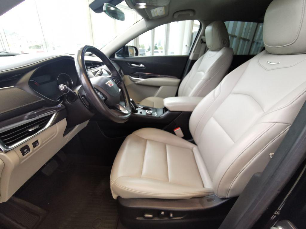 Black[Stellar Black Metallic] 2019 Cadillac XT4 Left Front Interior Photo in Edmonton AB