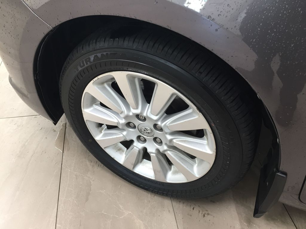 Gray[Pre-Dawn Grey Mica] 2014 Toyota Sienna XLE AWD Left Front Rim and Tire Photo in Sherwood Park AB