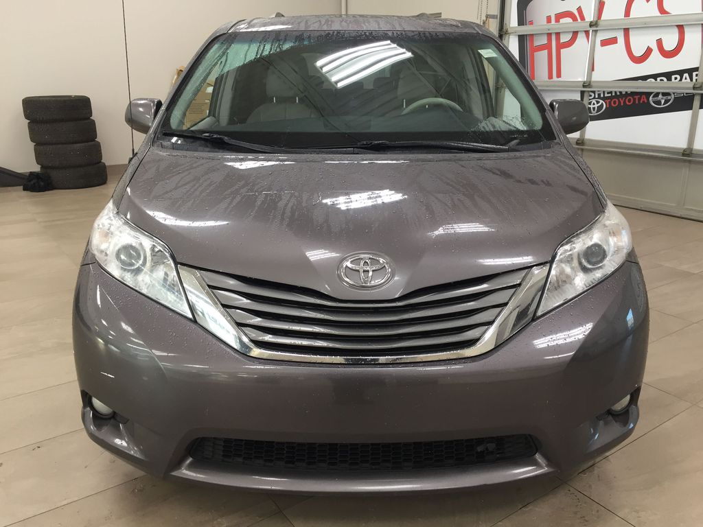Gray[Pre-Dawn Grey Mica] 2014 Toyota Sienna XLE AWD Front Vehicle Photo in Sherwood Park AB