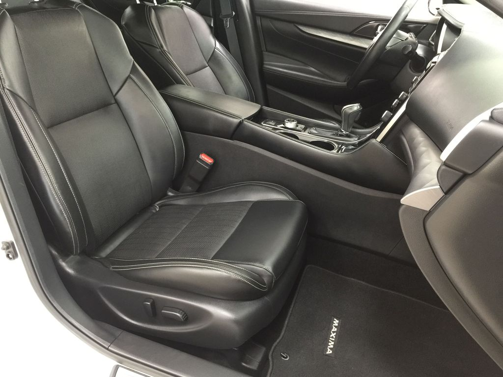 White[Pearl White] 2018 Nissan Maxima SV Right Side Front Seat  Photo in Sherwood Park AB