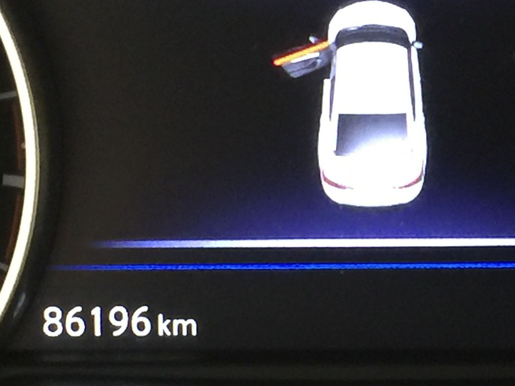 White[Pearl White] 2018 Nissan Maxima SV Odometer Photo in Sherwood Park AB