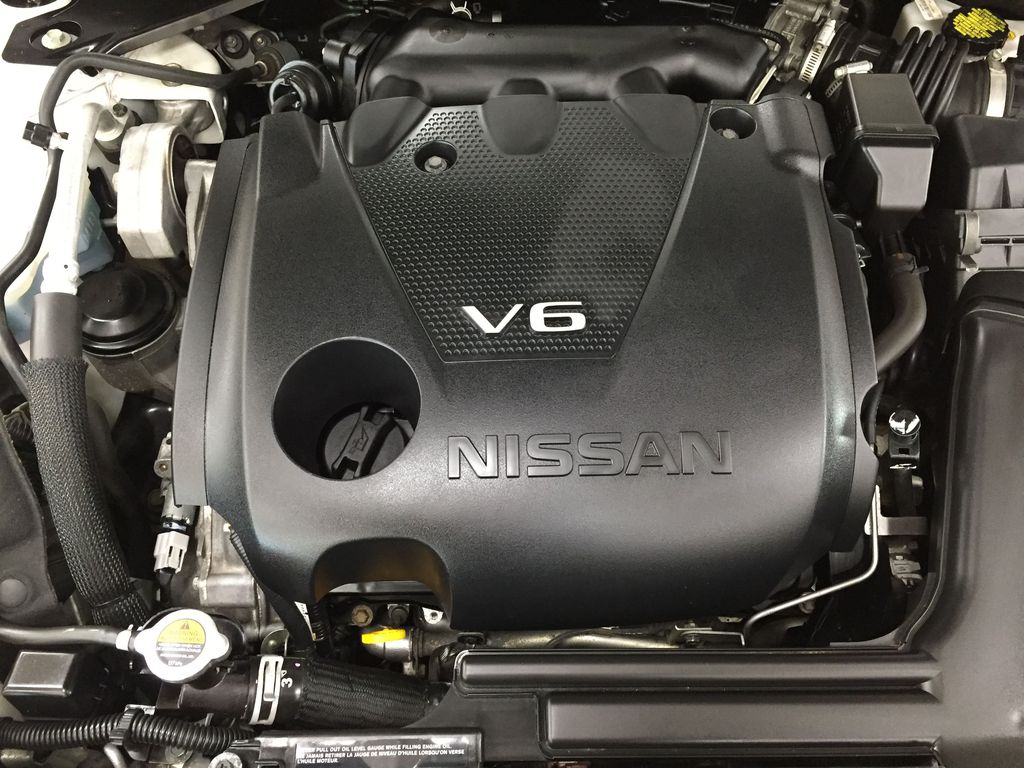 White[Pearl White] 2018 Nissan Maxima SV Engine Compartment Photo in Sherwood Park AB