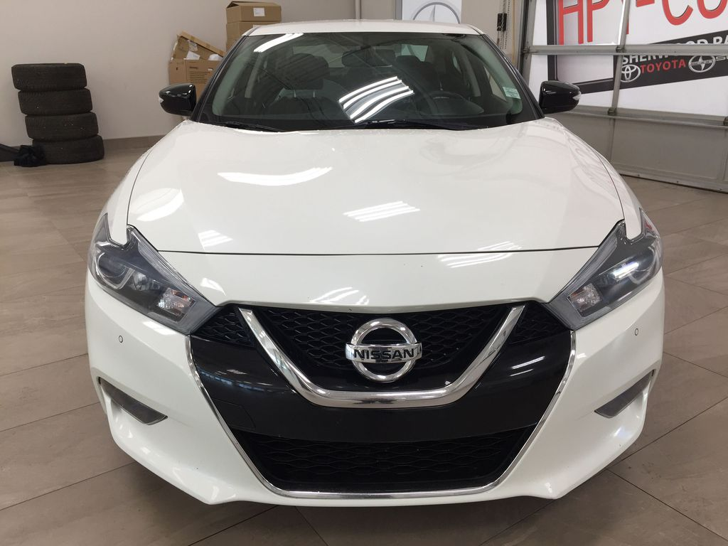 White[Pearl White] 2018 Nissan Maxima SV Front Vehicle Photo in Sherwood Park AB