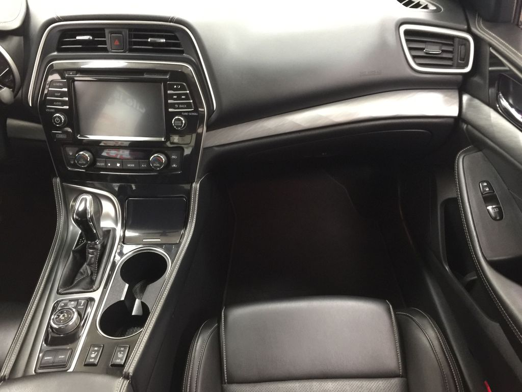 White[Pearl White] 2018 Nissan Maxima SV Right Front Seat Photo in Sherwood Park AB