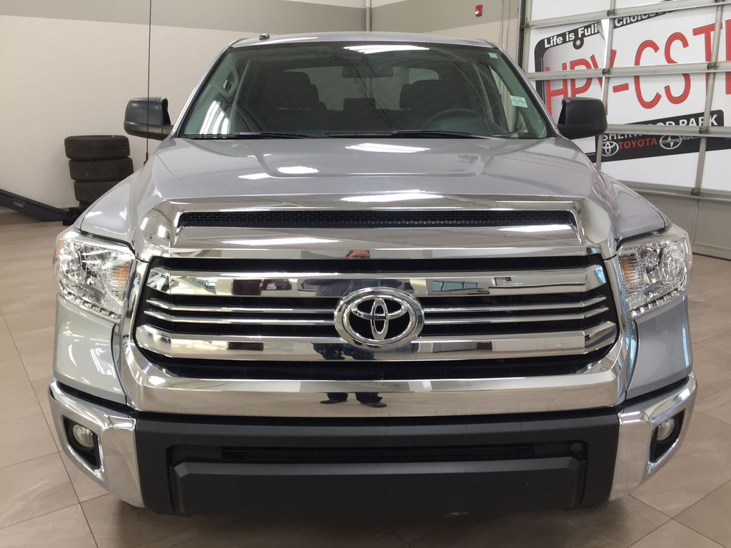 Silver[Silver Sky Metallic] 2017 Toyota Tundra SR5 SUPERCREW Front Vehicle Photo in Sherwood Park AB
