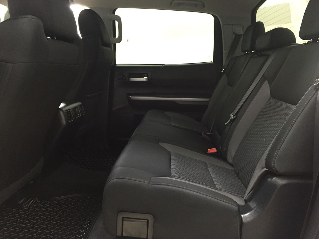 Silver[Silver Sky Metallic] 2017 Toyota Tundra SR5 SUPERCREW Left Side Rear Seat  Photo in Sherwood Park AB