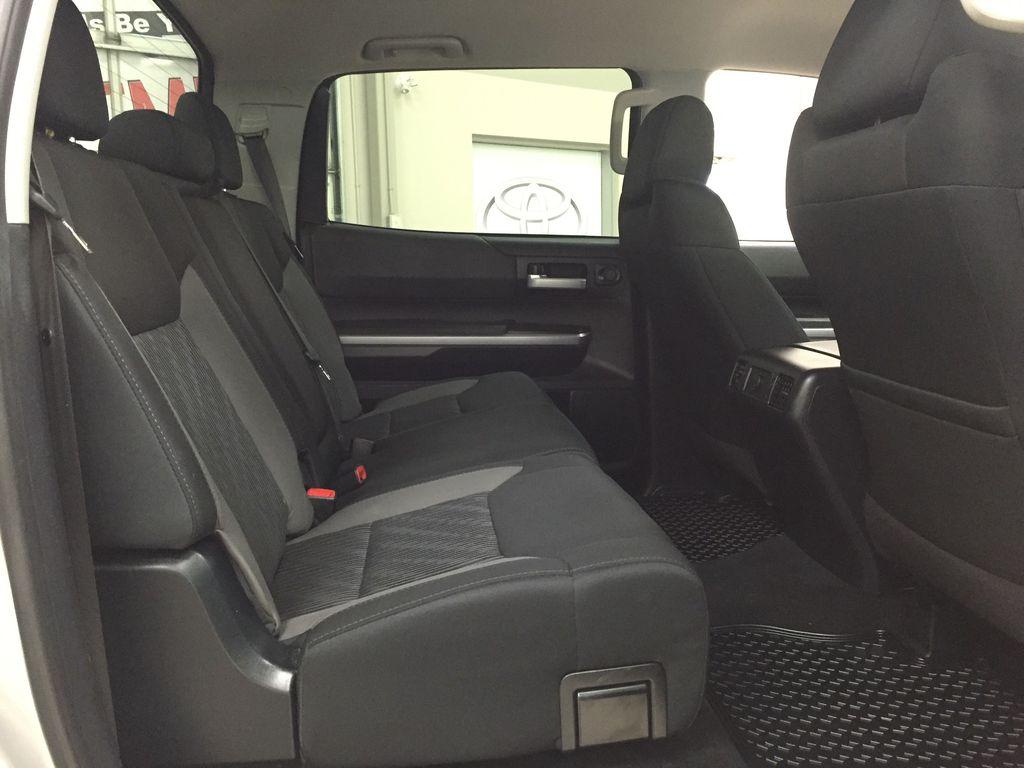 Silver[Silver Sky Metallic] 2017 Toyota Tundra SR5 SUPERCREW Right Side Rear Seat  Photo in Sherwood Park AB