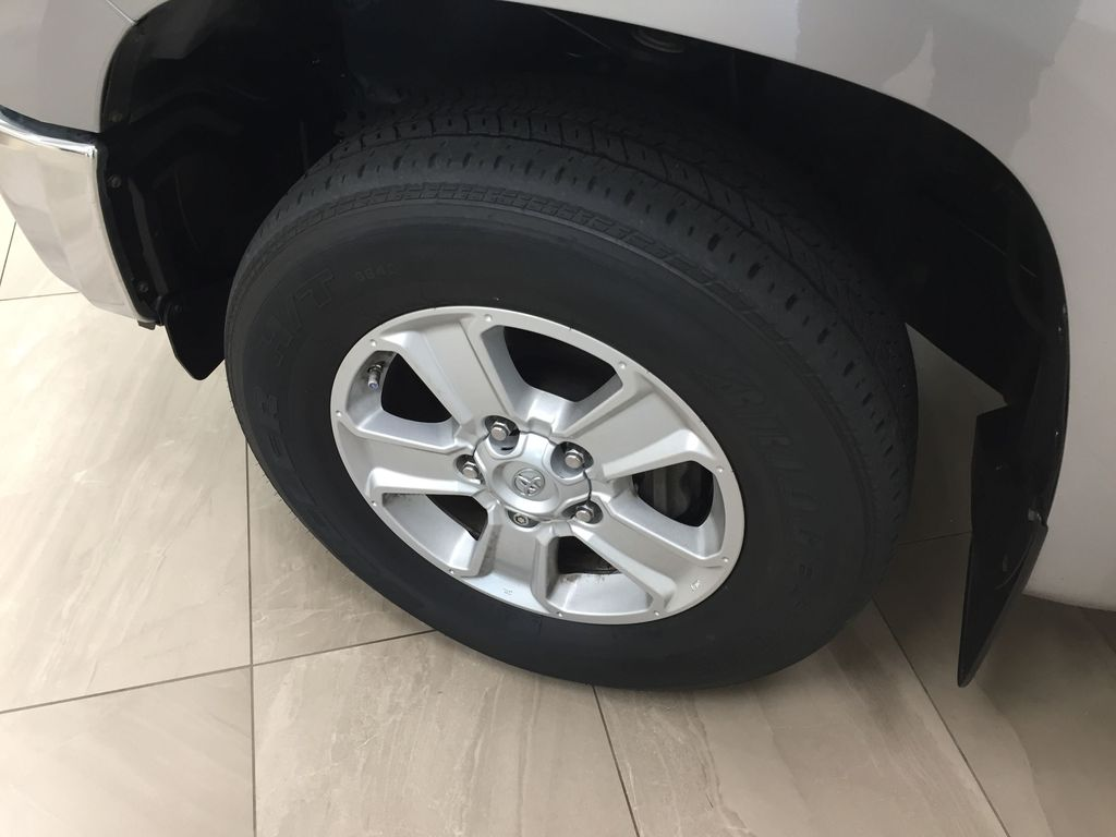 Silver[Silver Sky Metallic] 2017 Toyota Tundra SR5 SUPERCREW Left Front Rim and Tire Photo in Sherwood Park AB