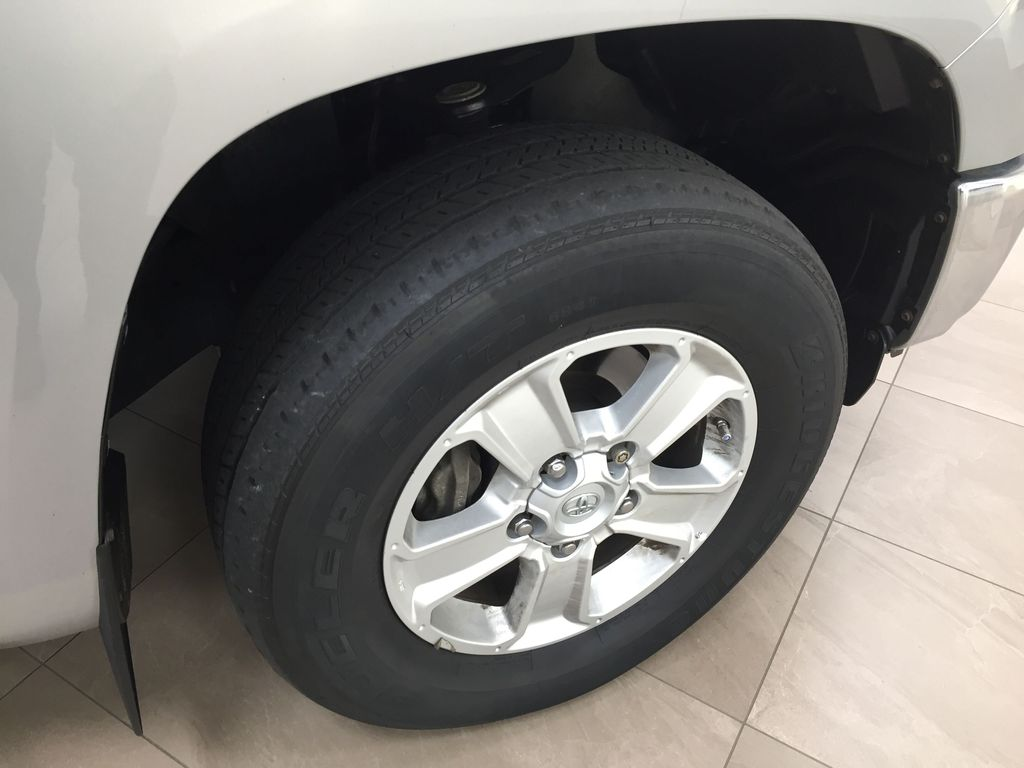 Silver[Silver Sky Metallic] 2017 Toyota Tundra SR5 SUPERCREW Right Front Rim and Tire Photo in Sherwood Park AB