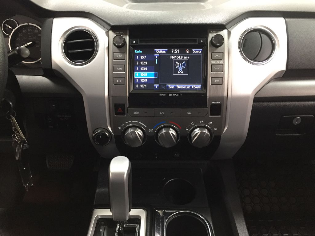 Silver[Silver Sky Metallic] 2017 Toyota Tundra SR5 SUPERCREW Central Dash Options Photo in Sherwood Park AB