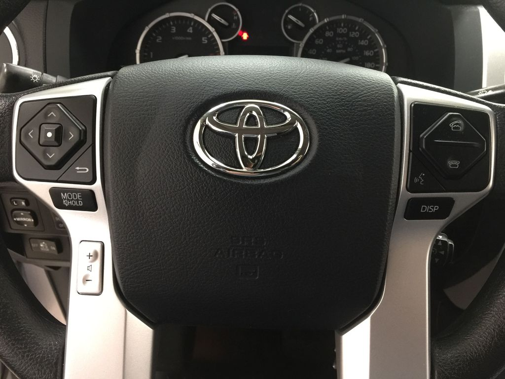Silver[Silver Sky Metallic] 2017 Toyota Tundra SR5 SUPERCREW Steering Wheel and Dash Photo in Sherwood Park AB