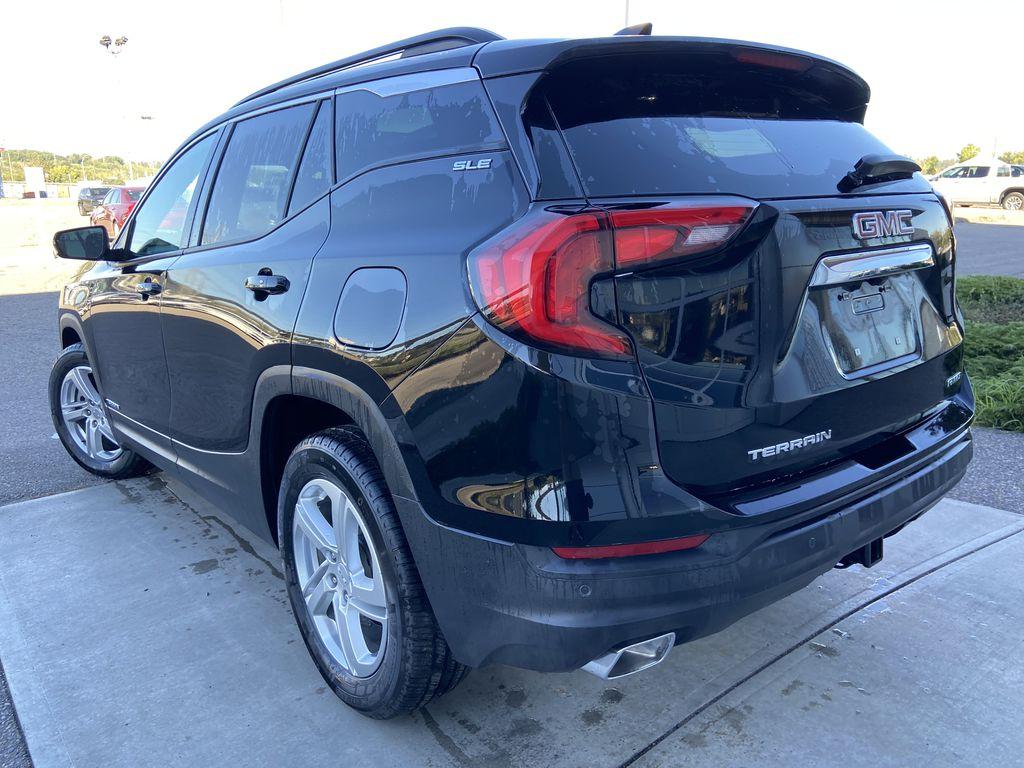 Black[Ebony Twilight Metallic] 2020 GMC Terrain SLE Left Rear Corner Photo in Calgary AB