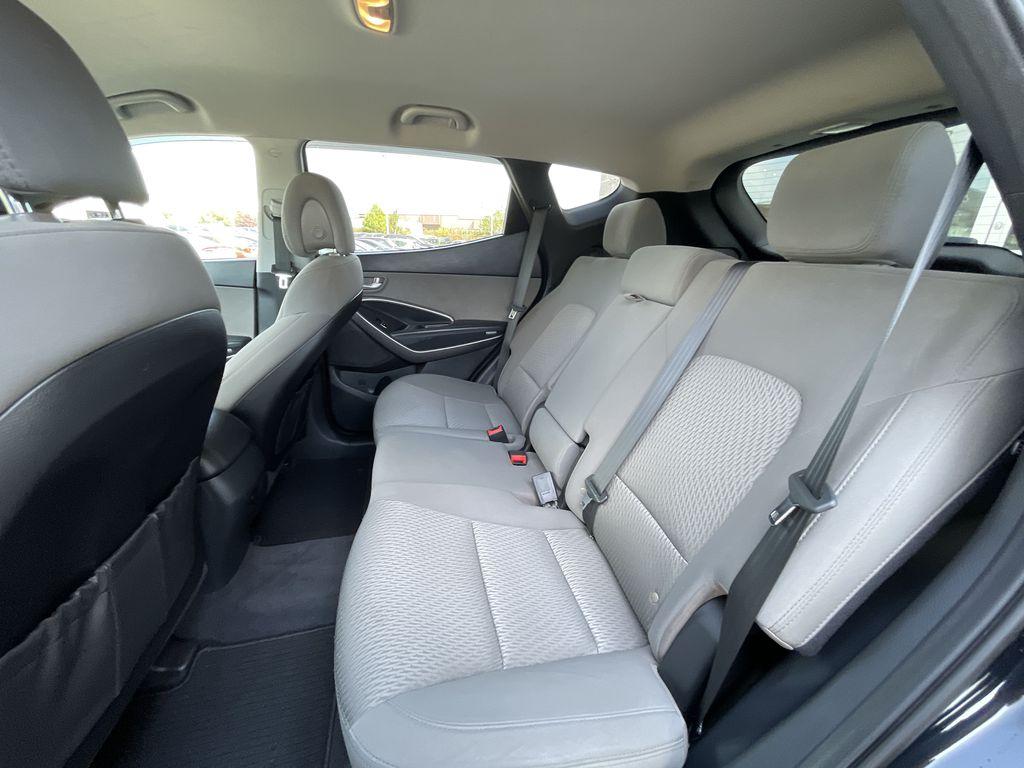Silver[Moonstone Silver] 2015 Hyundai Santa Fe cleaned Right Rear Interior Door Panel Photo in Brampton ON