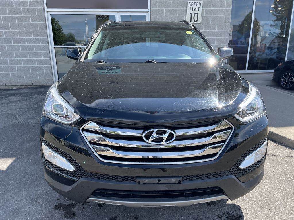 Silver[Moonstone Silver] 2015 Hyundai Santa Fe cleaned Left Side Photo in Brampton ON