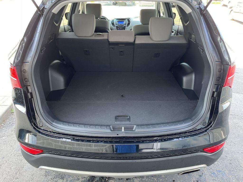 Silver[Moonstone Silver] 2015 Hyundai Santa Fe cleaned Left Rear Corner Photo in Brampton ON