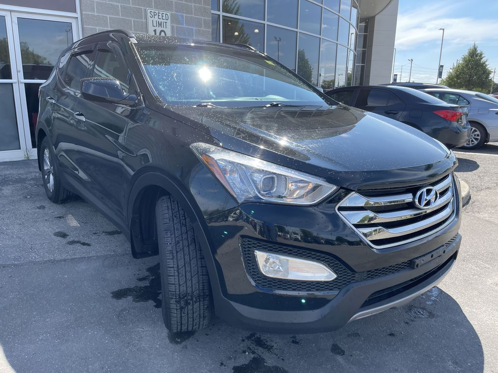 Silver[Moonstone Silver] 2015 Hyundai Santa Fe cleaned Engine Compartment Photo in Brampton ON