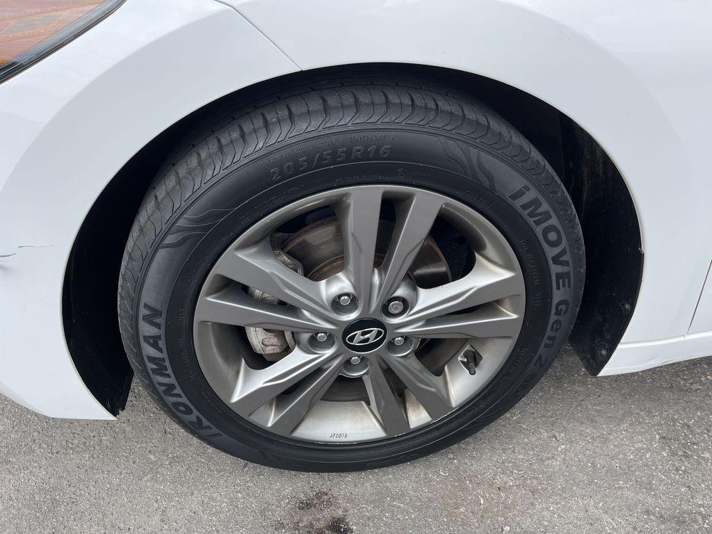 White[Polar White] 2017 Hyundai Elantra clean Left Front Corner Photo in Brampton ON