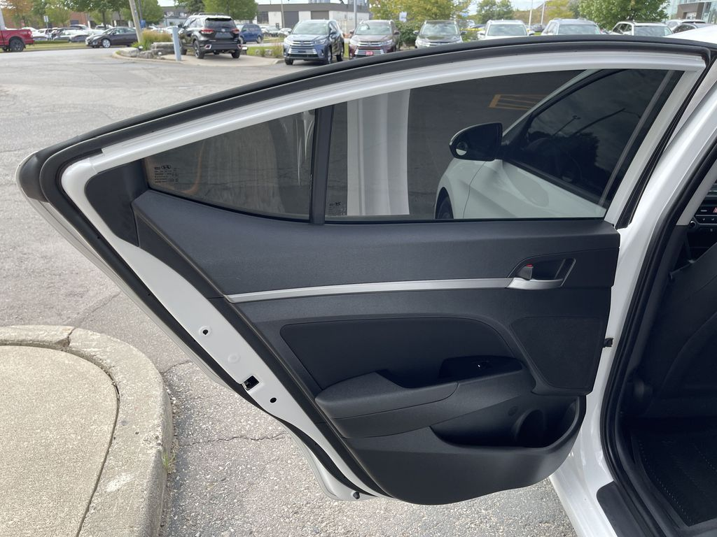 White[Polar White] 2017 Hyundai Elantra clean Left Side Rear Seat  Photo in Brampton ON