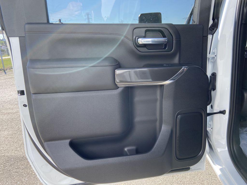 White[Summit White] 2022 GMC Sierra 2500HD AT4 Left Rear Interior Door Panel Photo in Calgary AB