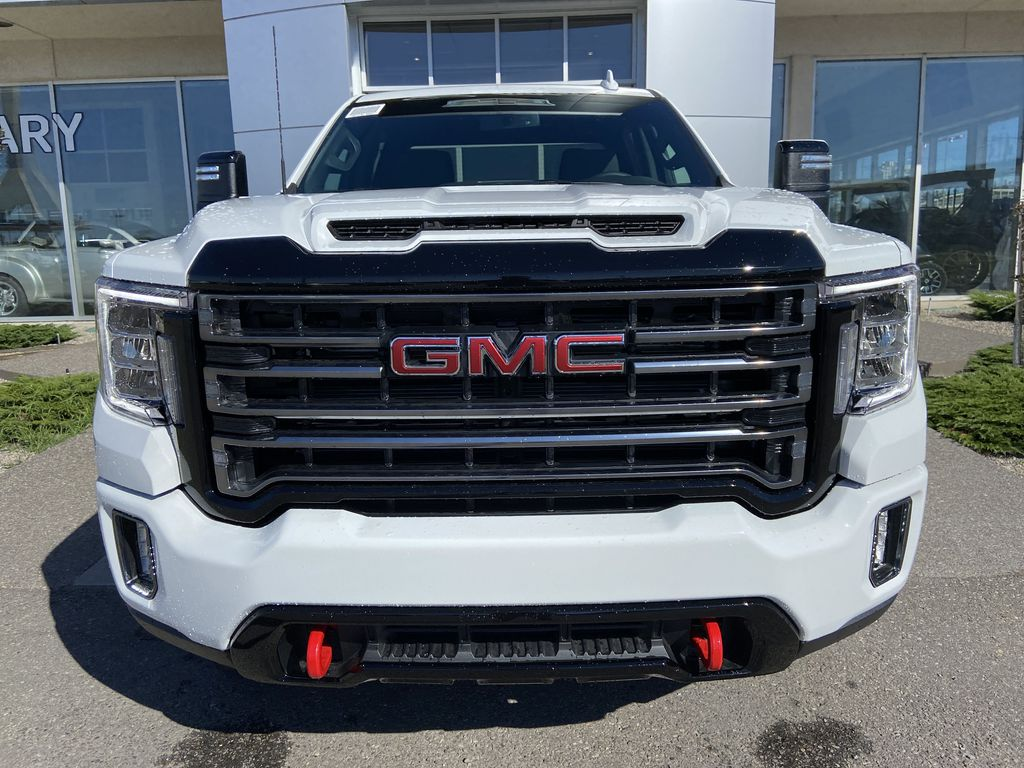 White[Summit White] 2022 GMC Sierra 2500HD AT4 Front Vehicle Photo in Calgary AB