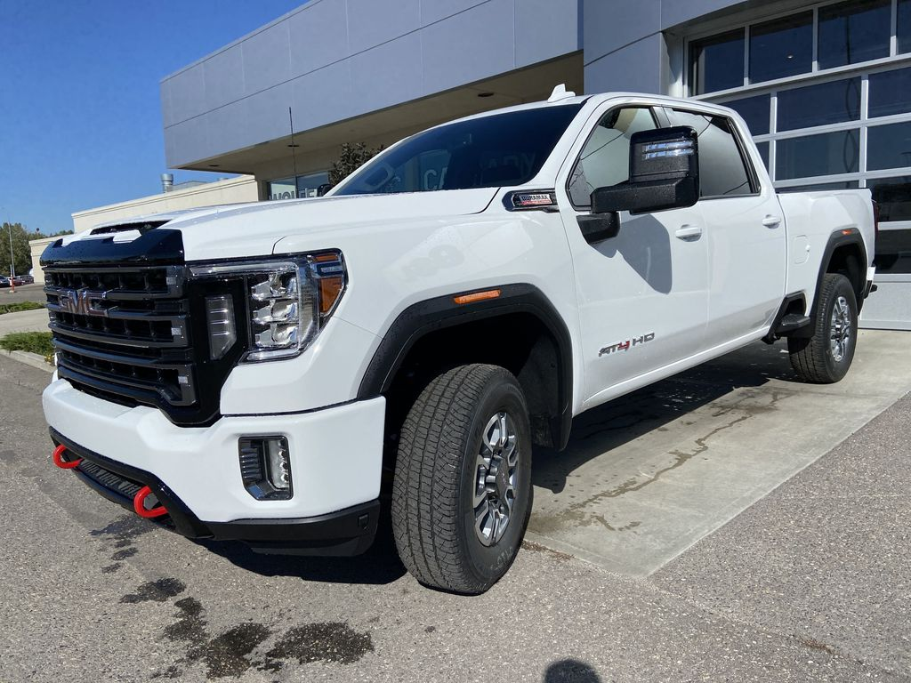 White[Summit White] 2022 GMC Sierra 2500HD AT4 Left Front Head Light / Bumper and Grill in Calgary AB