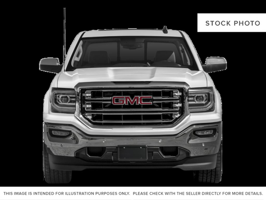 White[White Frost Tricoat] 2018 GMC Sierra 1500 SLT Front Vehicle Photo in Canmore AB