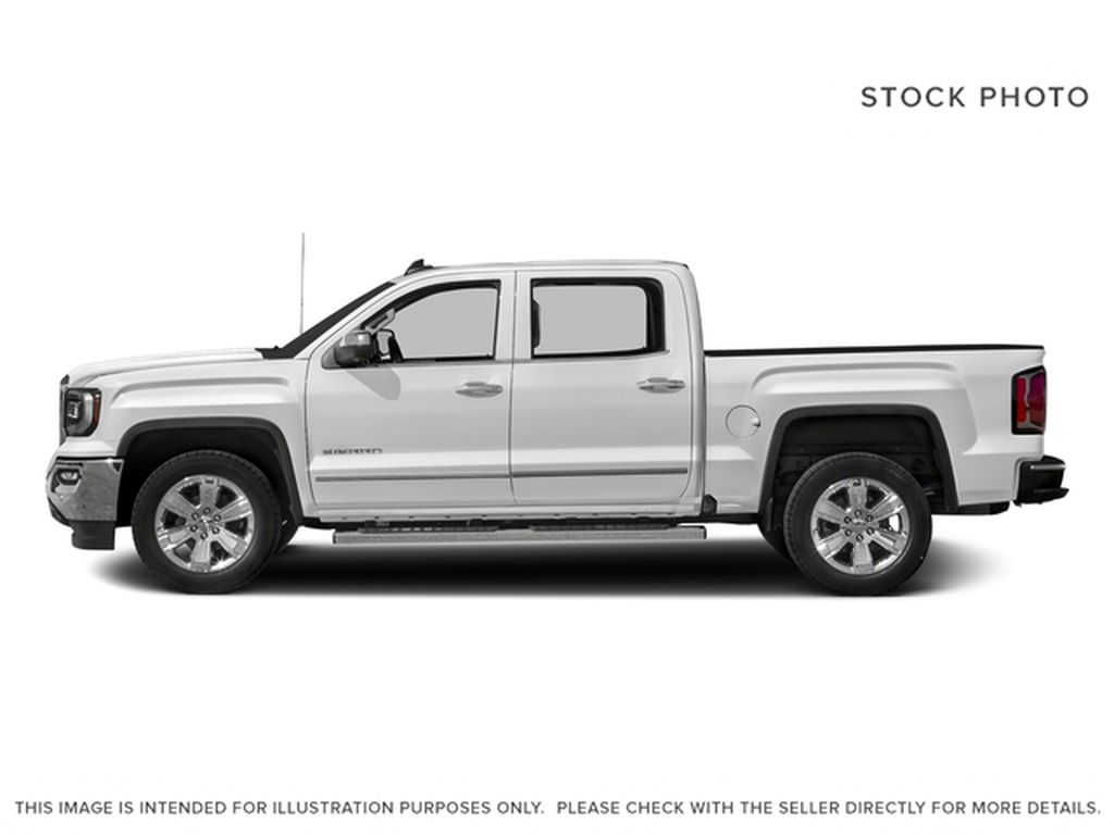 White[White Frost Tricoat] 2018 GMC Sierra 1500 SLT Left Side Photo in Canmore AB