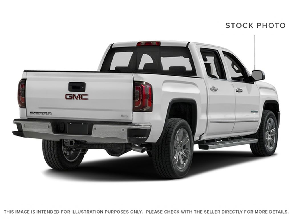 White[White Frost Tricoat] 2018 GMC Sierra 1500 SLT Right Rear Corner Photo in Canmore AB