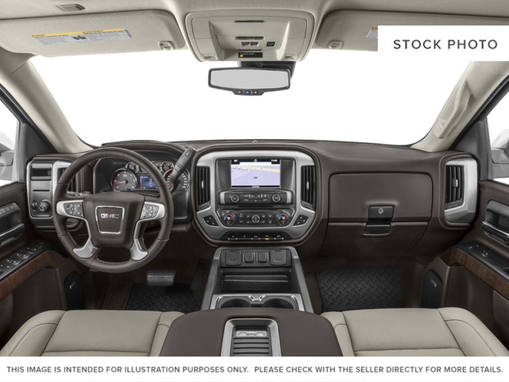 White[White Frost Tricoat] 2018 GMC Sierra 1500 SLT Central Dash Options Photo in Canmore AB