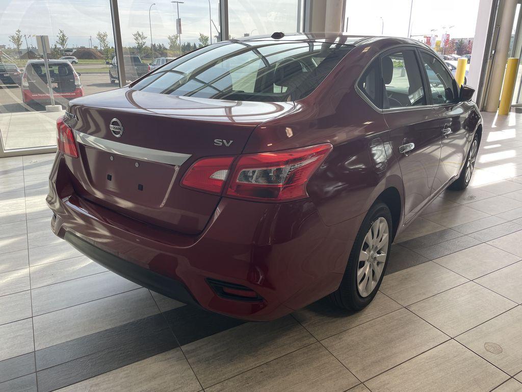 Red 2018 Nissan Sentra SV MIDNIGHT EDITI Rear of Vehicle Photo in Edmonton AB