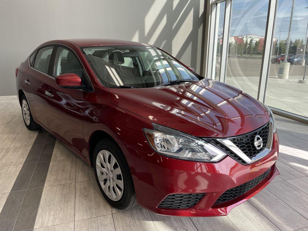Red 2018 Nissan Sentra SV MIDNIGHT EDITI Left Front Interior Photo in Edmonton AB