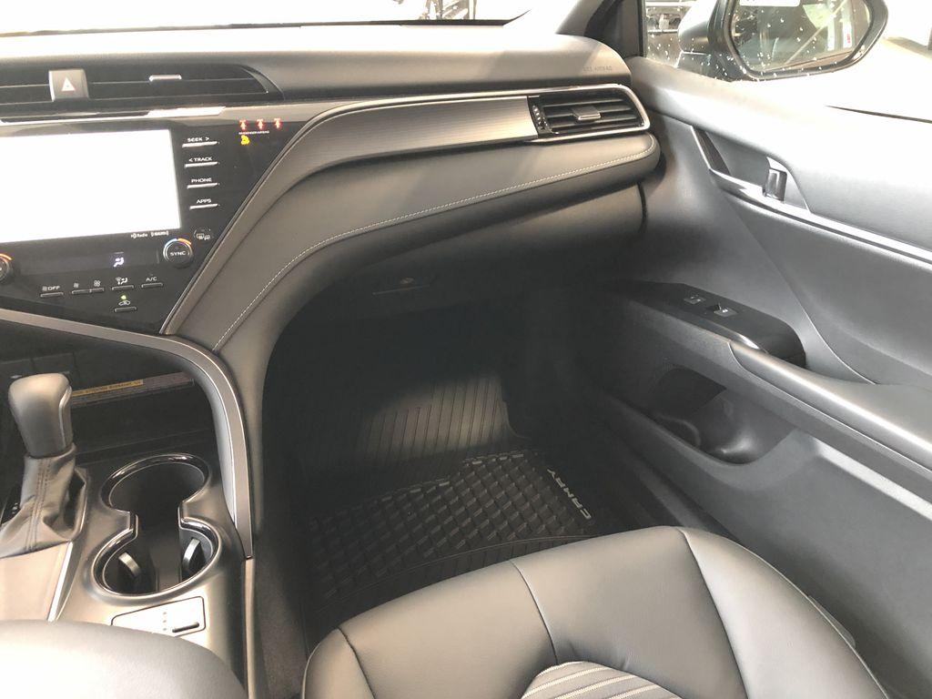 Midnight Black Metallic 2021 Toyota Camry SE Right Rear Side Body Line Photo in Edmonton AB