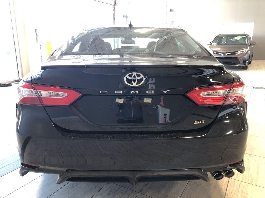 Midnight Black Metallic 2021 Toyota Camry SE Trunk / Cargo Area Photo in Edmonton AB