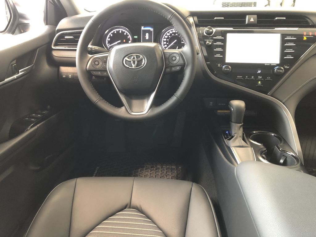 Midnight Black Metallic 2021 Toyota Camry SE Rear Seat Photo in Edmonton AB