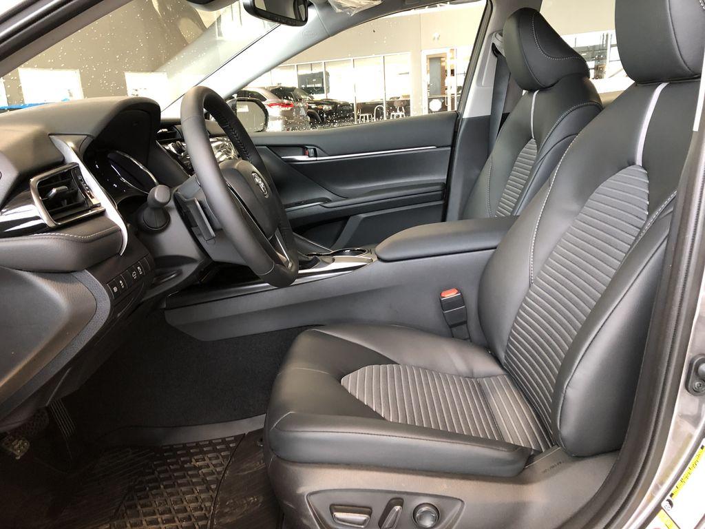 Midnight Black Metallic 2021 Toyota Camry SE Engine Compartment Photo in Edmonton AB