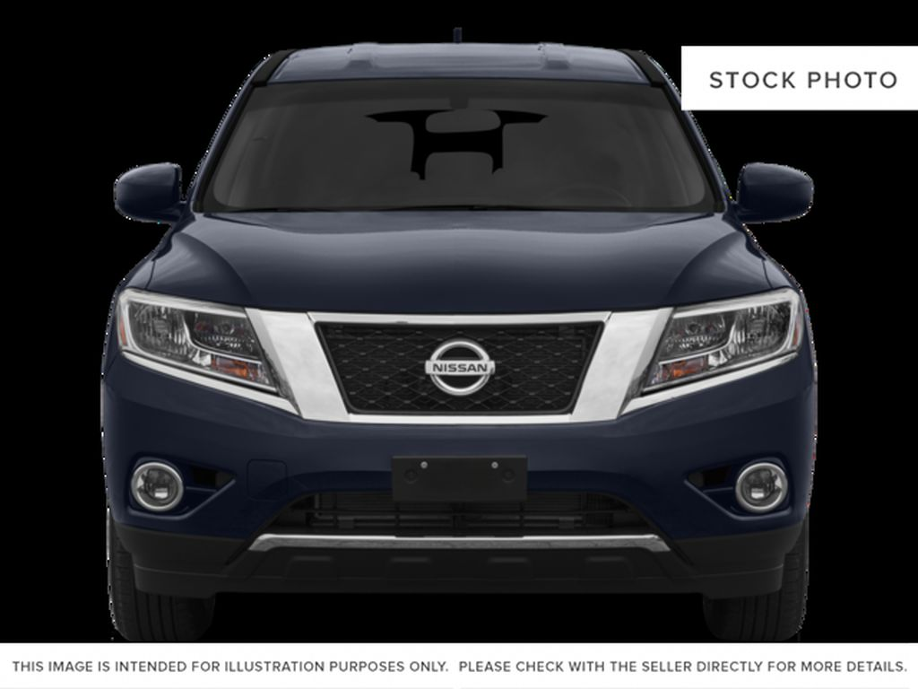 White[Pearl White] 2015 Nissan Pathfinder Front Vehicle Photo in Fort Macleod AB