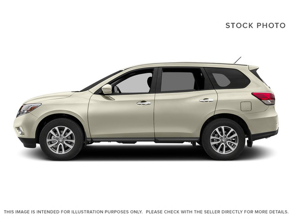 White[Pearl White] 2015 Nissan Pathfinder Left Side Photo in Fort Macleod AB