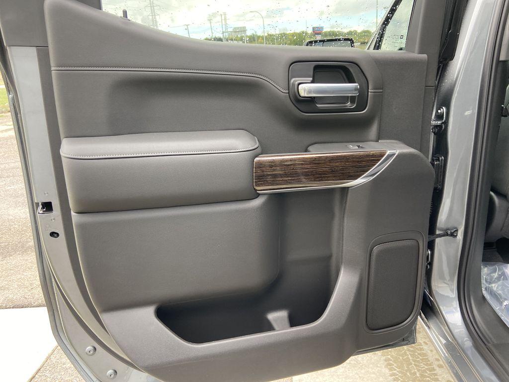 Gray[Satin Steel Metallic] 2021 GMC Sierra 1500 Elevation Left Rear Interior Door Panel Photo in Calgary AB