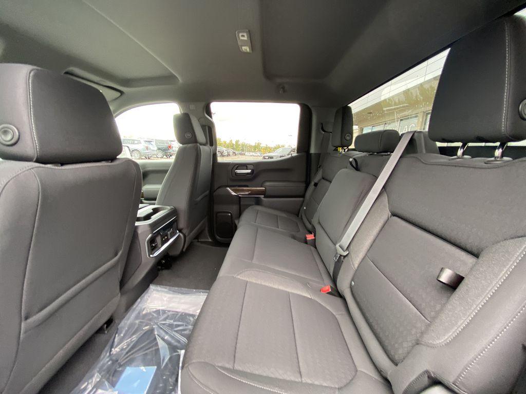 Gray[Satin Steel Metallic] 2021 GMC Sierra 1500 Elevation Left Side Rear Seat  Photo in Calgary AB