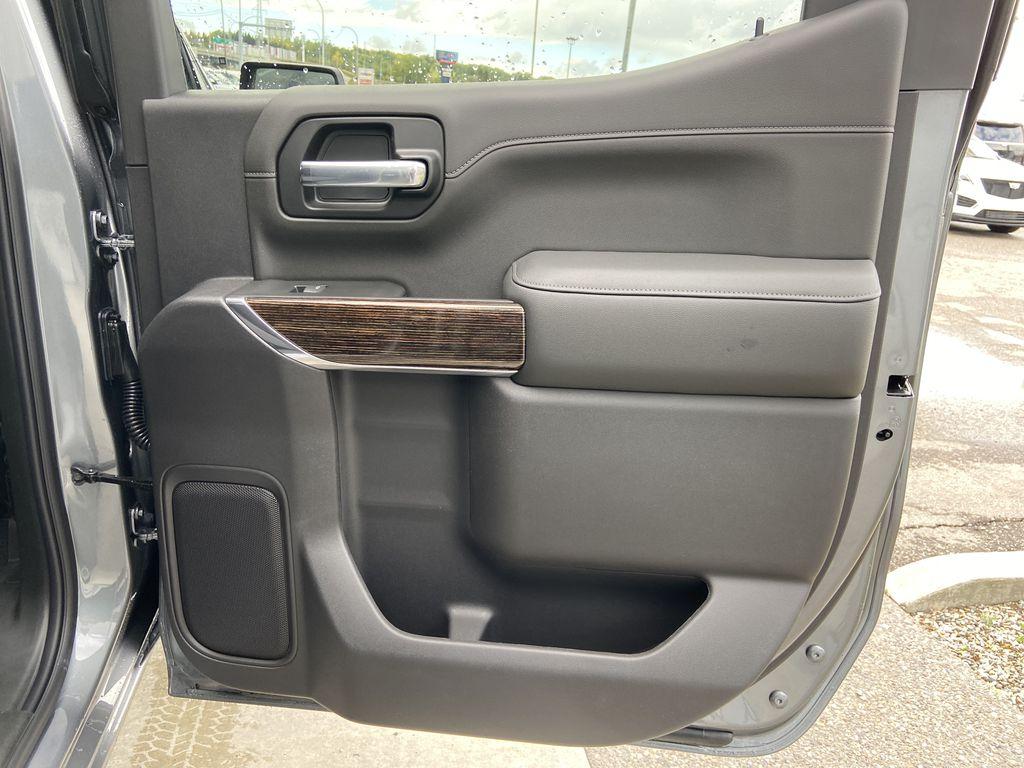 Gray[Satin Steel Metallic] 2021 GMC Sierra 1500 Elevation Right Rear Interior Door Panel Photo in Calgary AB