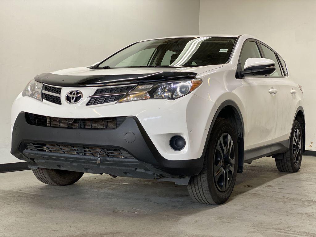 WHITE 2015 Toyota RAV4 LE AWD - Bluetooth, Cruise Control, Air Conditioning Left Front Corner Photo in Edmonton AB