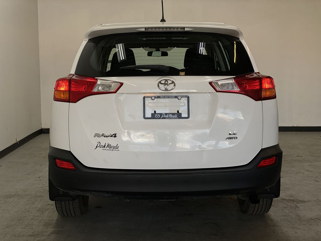 WHITE 2015 Toyota RAV4 LE AWD - Bluetooth, Cruise Control, Air Conditioning Rear of Vehicle Photo in Edmonton AB