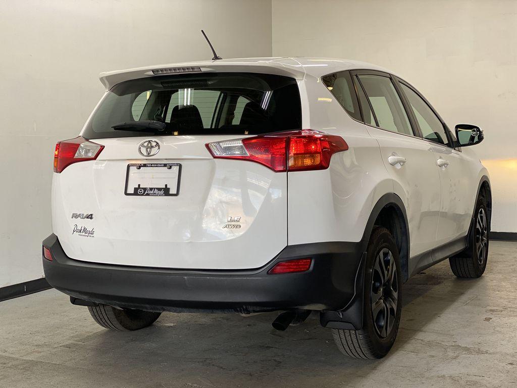 WHITE 2015 Toyota RAV4 LE AWD - Bluetooth, Cruise Control, Air Conditioning Right Rear Corner Photo in Edmonton AB