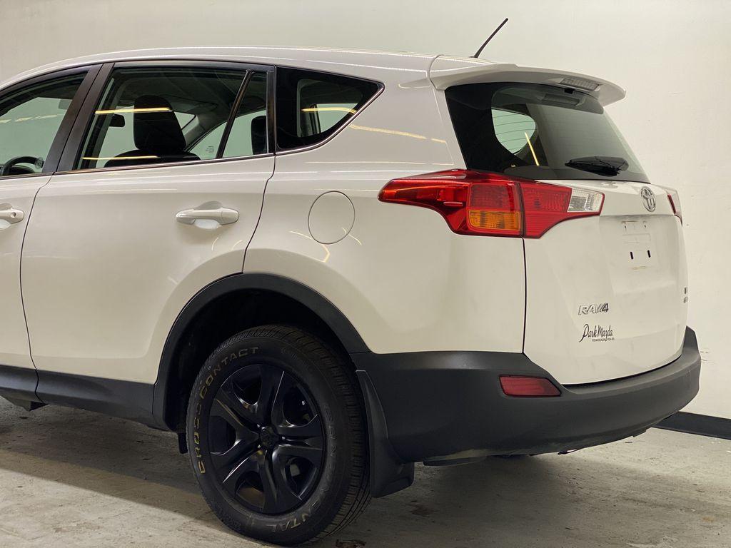 WHITE 2015 Toyota RAV4 LE AWD - Bluetooth, Cruise Control, Air Conditioning Left Rear Corner Photo in Edmonton AB