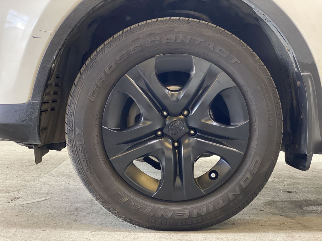 WHITE 2015 Toyota RAV4 LE AWD - Bluetooth, Cruise Control, Air Conditioning Left Front Rim and Tire Photo in Edmonton AB