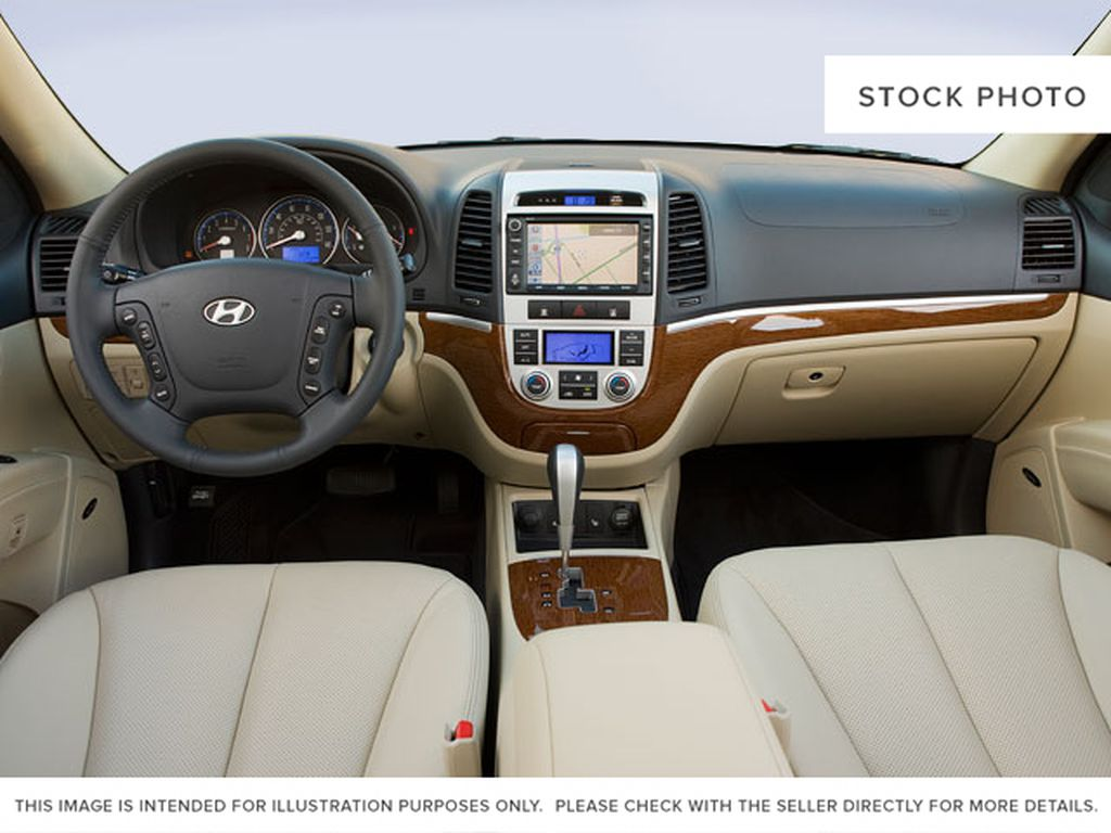 Blue[Blue Grey] 2009 Hyundai Santa Fe Strng Wheel/Dash Photo: Frm Rear in Ottawa ON