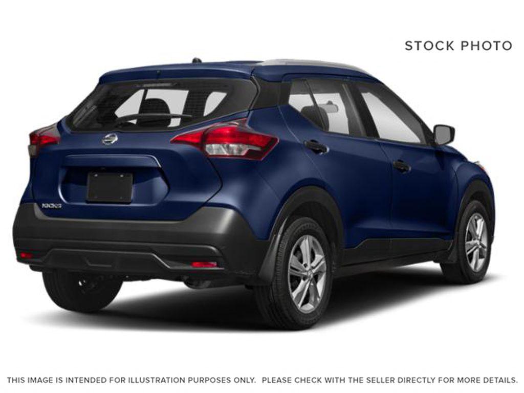 Blue[Deep Blue Pearl] 2018 Nissan Kicks Right Rear Corner Photo in Lethbridge AB