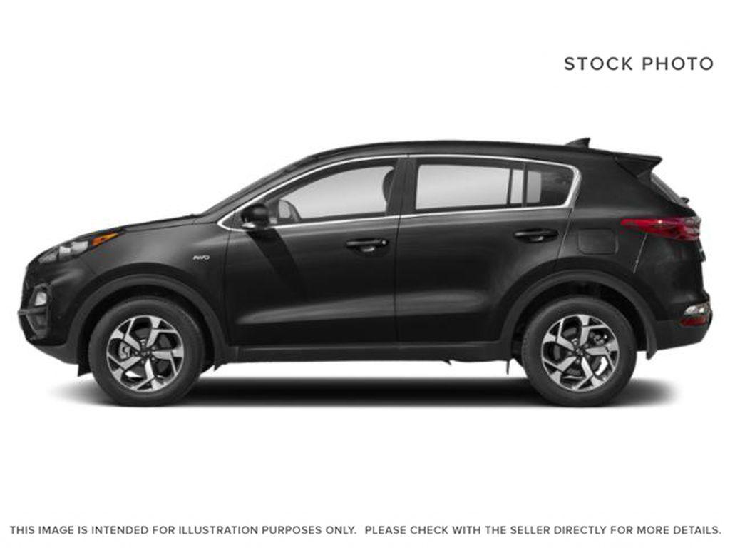 Black[Black Cherry] 2021 Kia Sportage Left Side Photo in Lethbridge AB