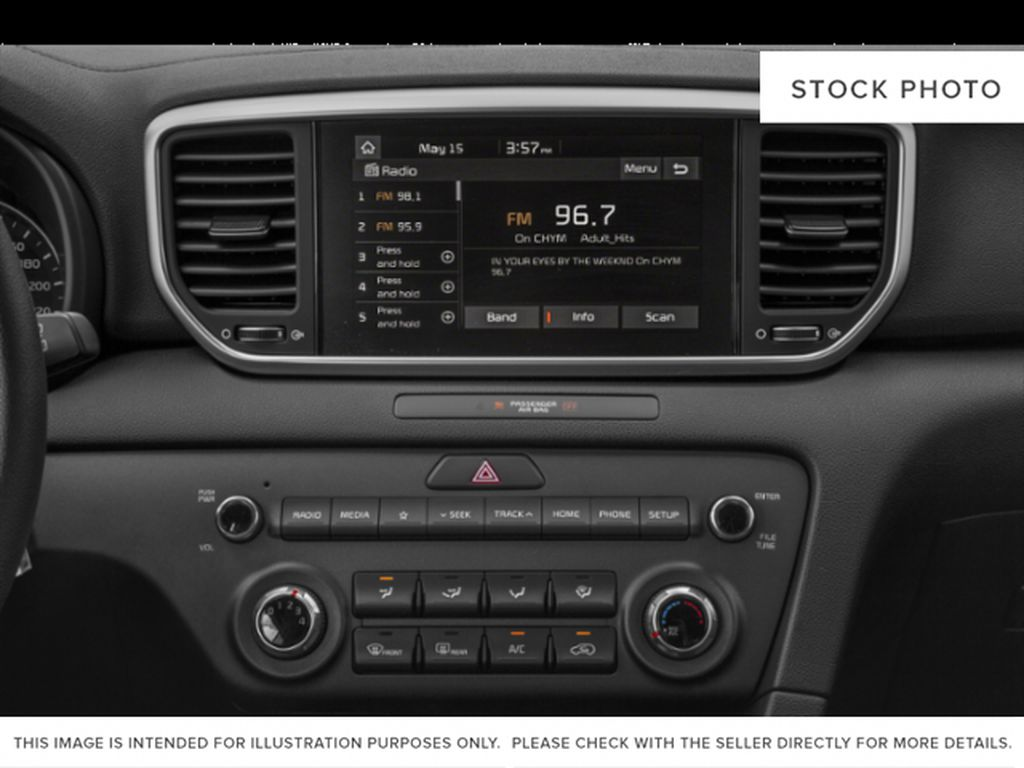 Black[Black Cherry] 2021 Kia Sportage Radio Controls Closeup Photo in Lethbridge AB
